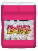 Crisis As Graffiti On A Wall  Duvet Cover