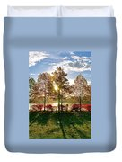 Crisp Autumn Day Duvet Cover