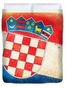 Croatia Flag Duvet Cover