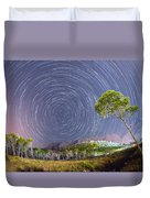 Croatia Star Trails Duvet Cover