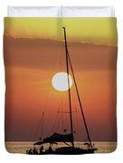 Croatian Sunset Duvet Cover