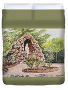 Crockett California Saint Rose Of Lima Church Grotto Duvet Cover