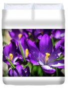 Crocus Amongst Us Duvet Cover