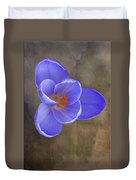 Crocus Focus Stacked 3 Duvet Cover