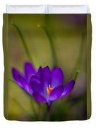 Crocus Petals Duvet Cover