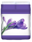 Crocuses - Impressions Duvet Cover