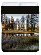 Crooked Creek Sunset Duvet Cover