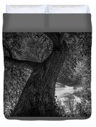 Crooked Oak Black And White Duvet Cover