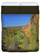 Crooked River And Mt Hood Oregon Duvet Cover