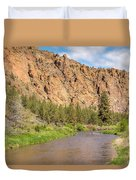 Crooked River II Duvet Cover