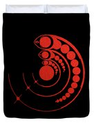 Crop Circle Formation Near Avebury Stone Circle In Wiltshire England In Red Duvet Cover