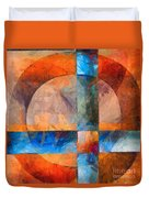 Cross And Circle Abstract Duvet Cover