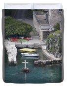 Cross In A Harbor Duvet Cover