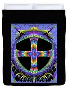 Cross Of One Way To God Duvet Cover