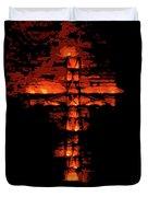 Cross On Fire Duvet Cover