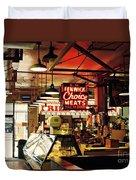 Cross Street Market In Baltimore Duvet Cover