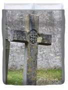 Cross Tombstone St. Mary's Wedmore Duvet Cover