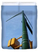 Cross Walk Pole Duvet Cover