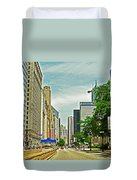 Crossing Chicago's South Michigan Avenue Duvet Cover