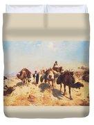 Crossing The Desert Duvet Cover