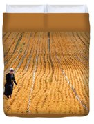 Crossing The Field Duvet Cover