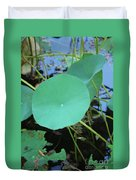 Crossing The Lily Pond Outback Number One Duvet Cover