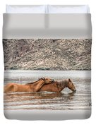 Crossing The River Duvet Cover