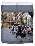 Crossing The Street In Dumbo Duvet Cover