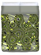 Crossing White Lines Abstract Duvet Cover
