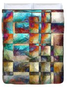 Crossover Abstract Pencil Duvet Cover