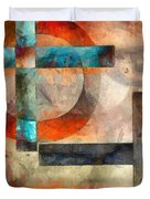 Crossroads Abstract Duvet Cover