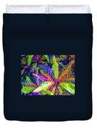Croton Foliage Duvet Cover