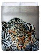 Crouching Leopard Duvet Cover