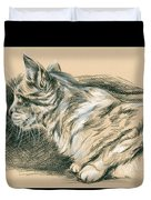 Crouching Tabby Duvet Cover by MM Anderson