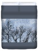 Crow Counting  Duvet Cover