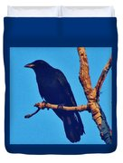 Crow In A Tree Duvet Cover