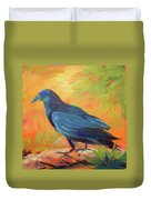 Crow In The Grass 7 Duvet Cover