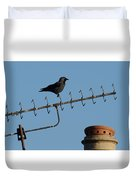 Crow On Aerial Duvet Cover