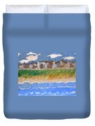 Crowded Beaches Duvet Cover