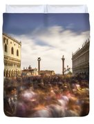 Crowded On St. Mark's Square Duvet Cover
