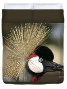 Crown Crane Close Up Duvet Cover