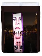 Crown Fountain Reflections Duvet Cover
