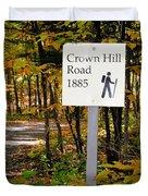 Crown Hill Road 1885 Duvet Cover
