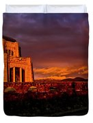 Crown Point At Sunset Duvet Cover