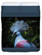 Crowned Pigeon Duvet Cover