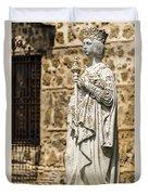 Crowned Statue - Toledo Spain Duvet Cover