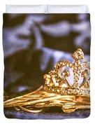 Crowned Tiara Jewellery Duvet Cover