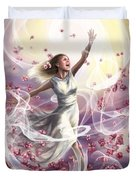 Crowned With Glory... Dancing In Glory Duvet Cover