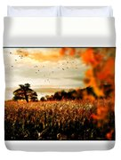 Crows And Corn Duvet Cover