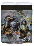 Crows In A Row Duvet Cover